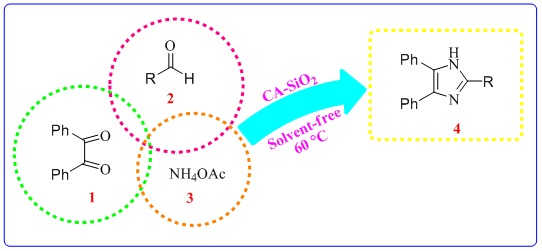 One-Pot Three Components Synthesis of 2,4,5-Triaryl-Imidazoles Catalyzed by Caro's Acid-Silica Gel Under Solvent–Free Condition