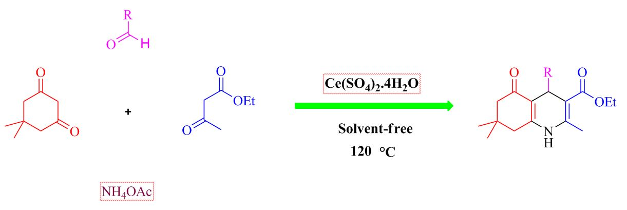 Investigating effect of cerium (IV) sulfate tetrahydrate as reusable and heterogeneous catalyst for the one‐pot multicomponent synthesis of polyhydroquinolines