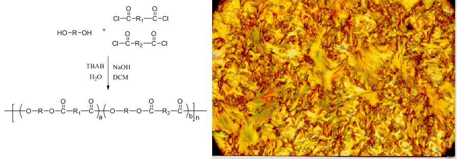 Thermotropic Liquid Crystalline Polyesters Using Aromatic Rigid Diols, Unsaturated Fumaric Acid and Flexible Sebacic Acid