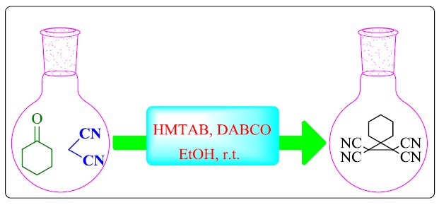 One-Pot Synthesis of Tetracyanocyclopropane Derivatives Using Hexamethylenetetramine-Bromine (HMTAB)